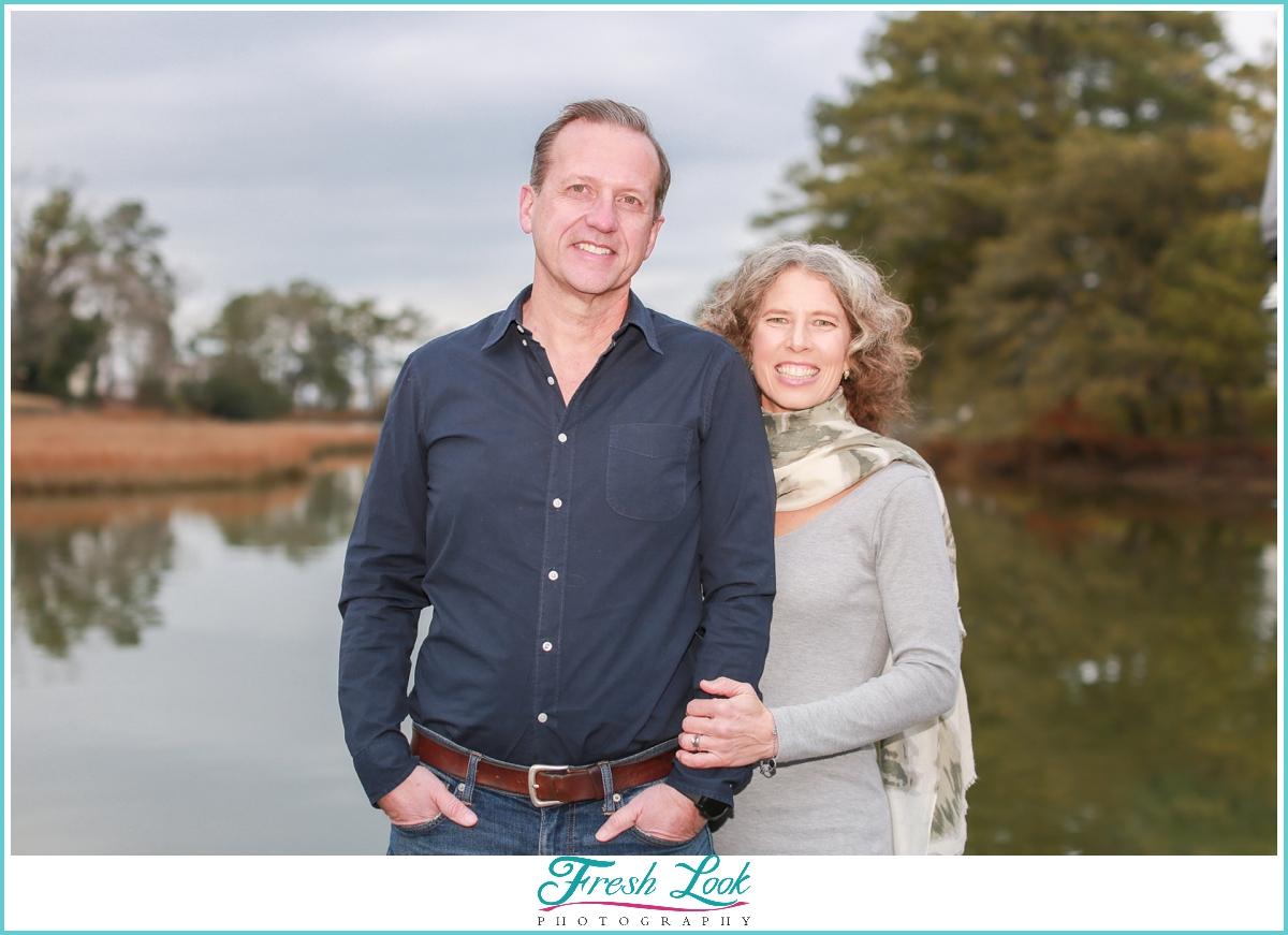 couples photos on the lake