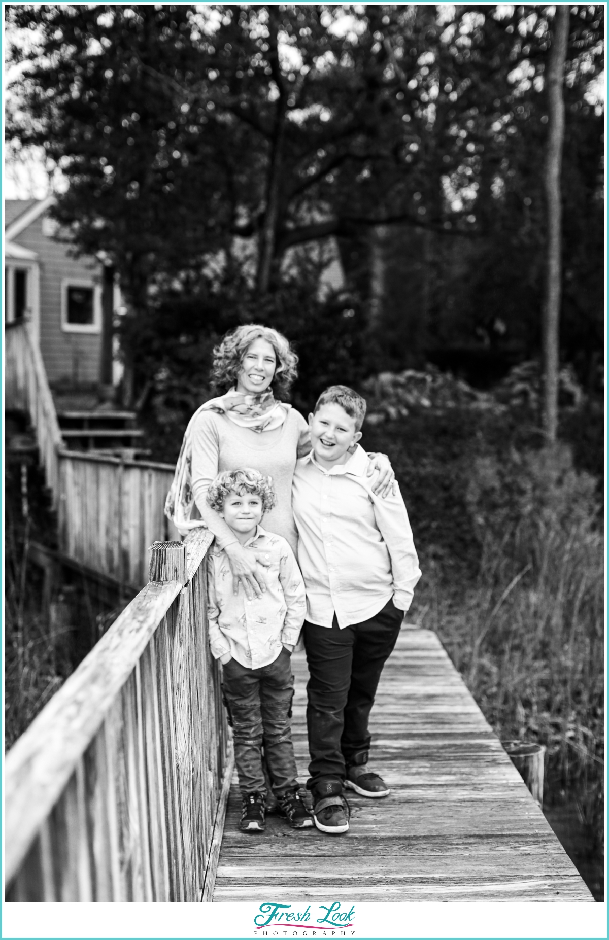 mom and her boys family session
