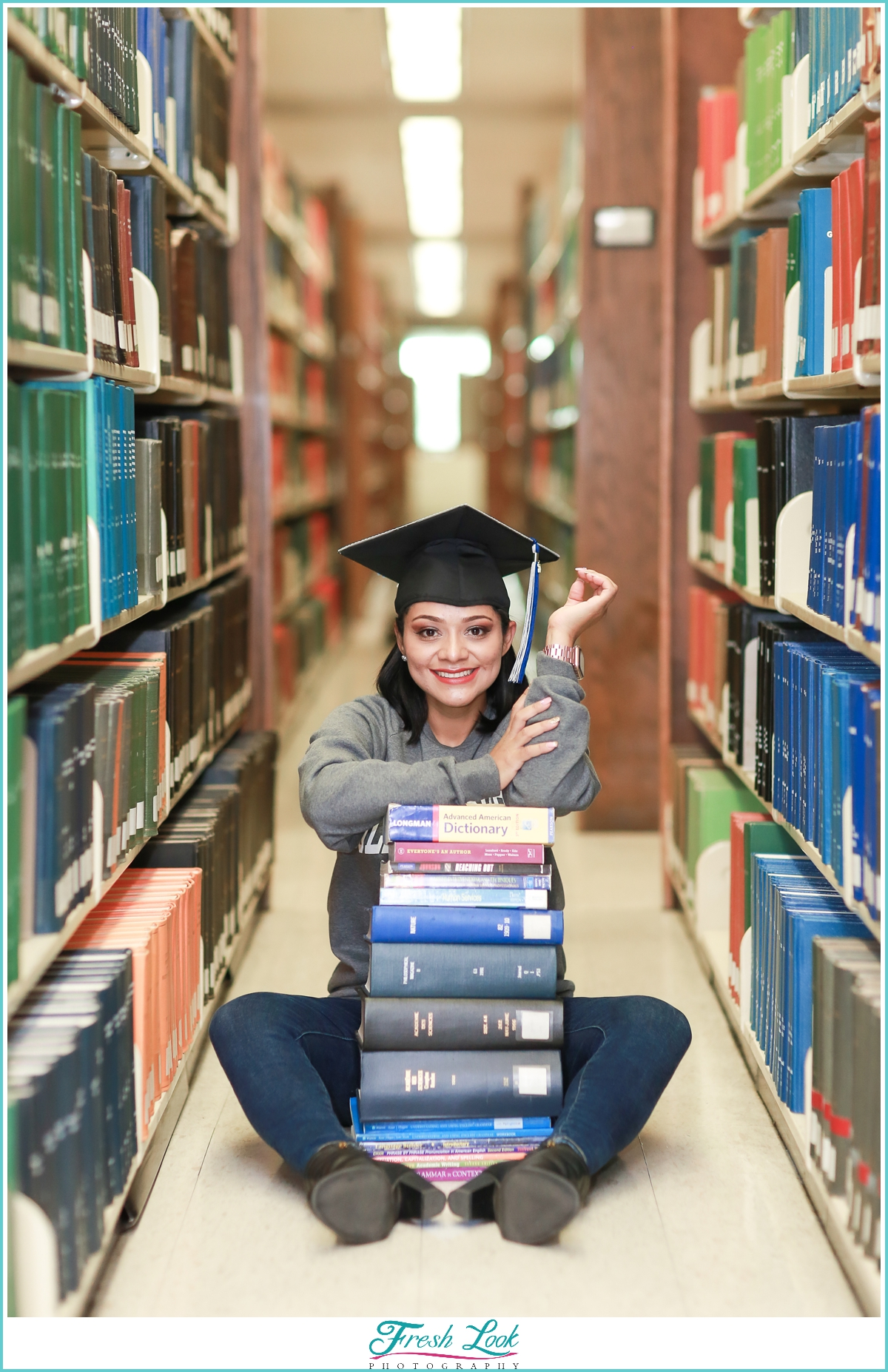 College Library Photoshoot ideas