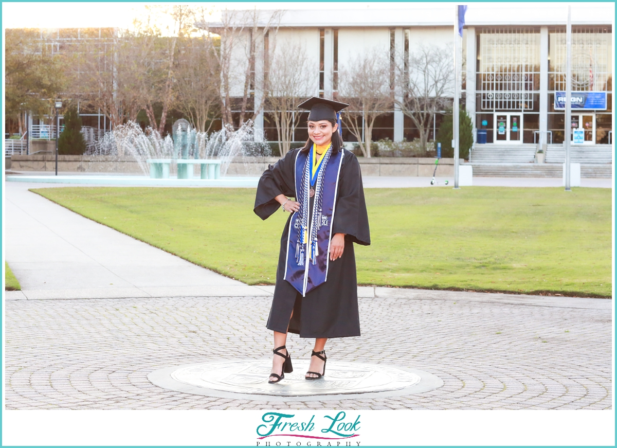Cap and Gown college photoshoot ideas