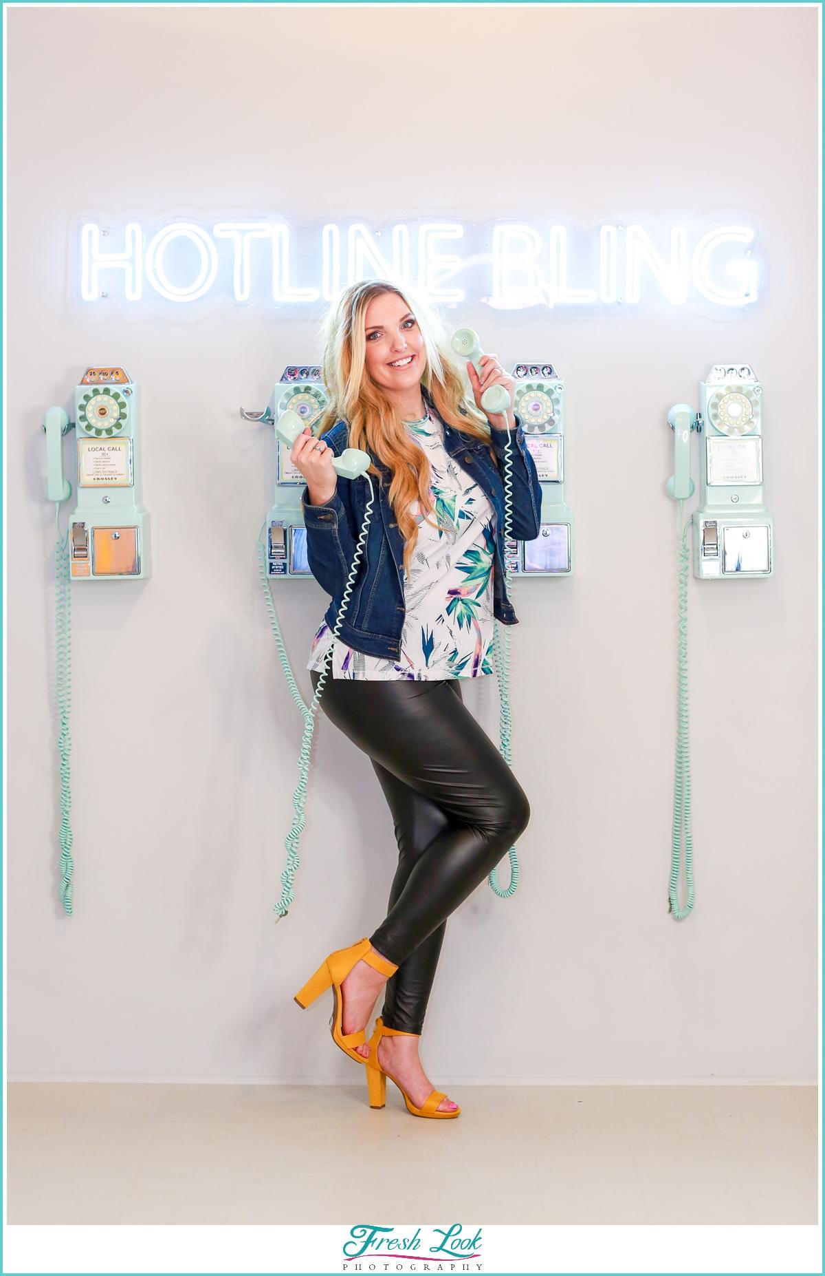 hotline bling fun photoshoot