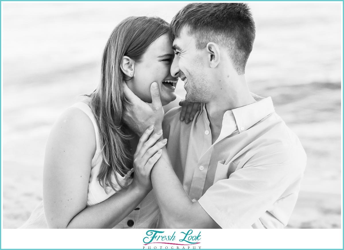 joyful engagement photoshoot