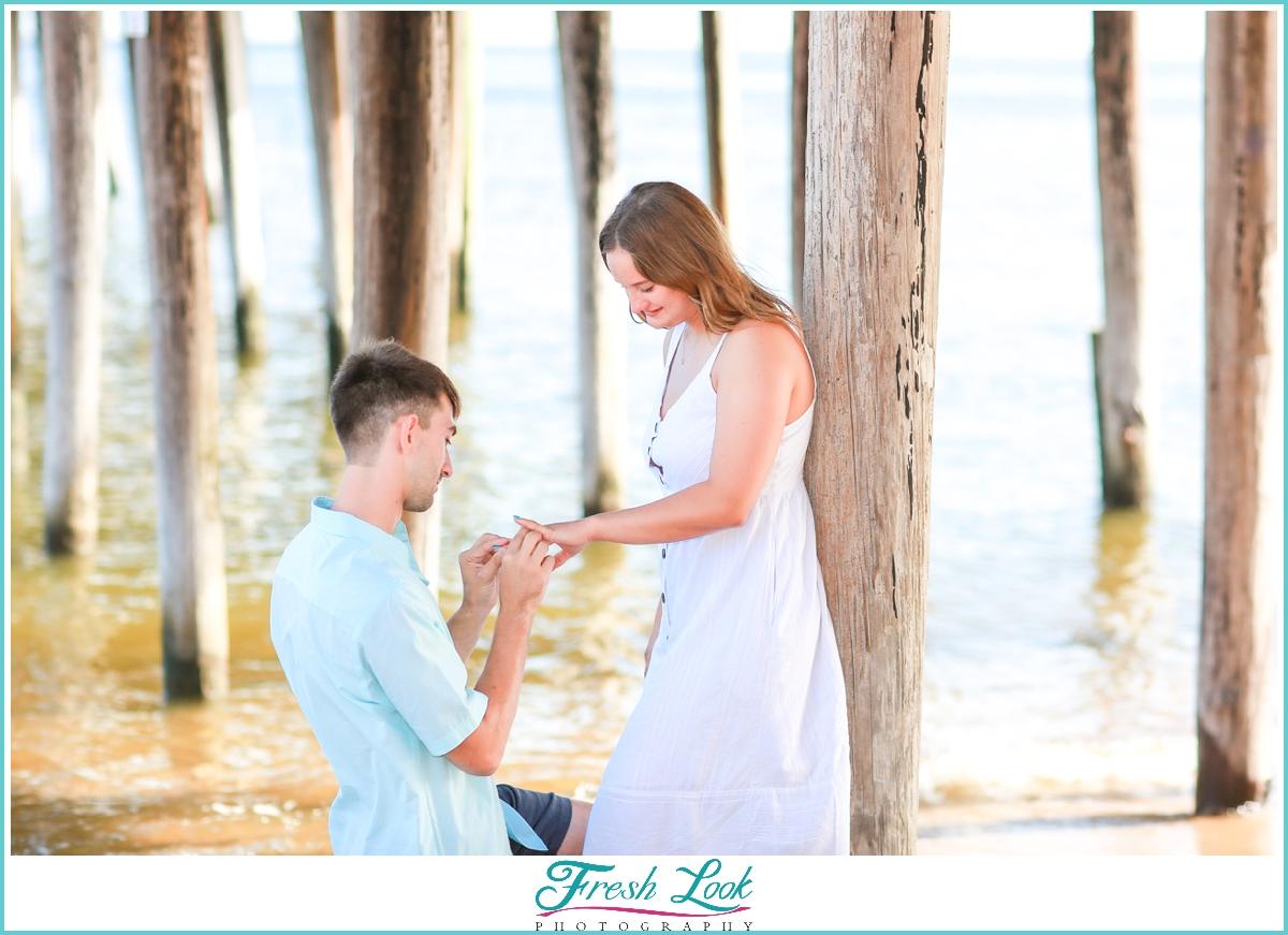 beach proposal photoshoot