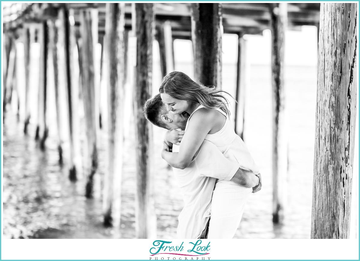 romantic beach proposal session