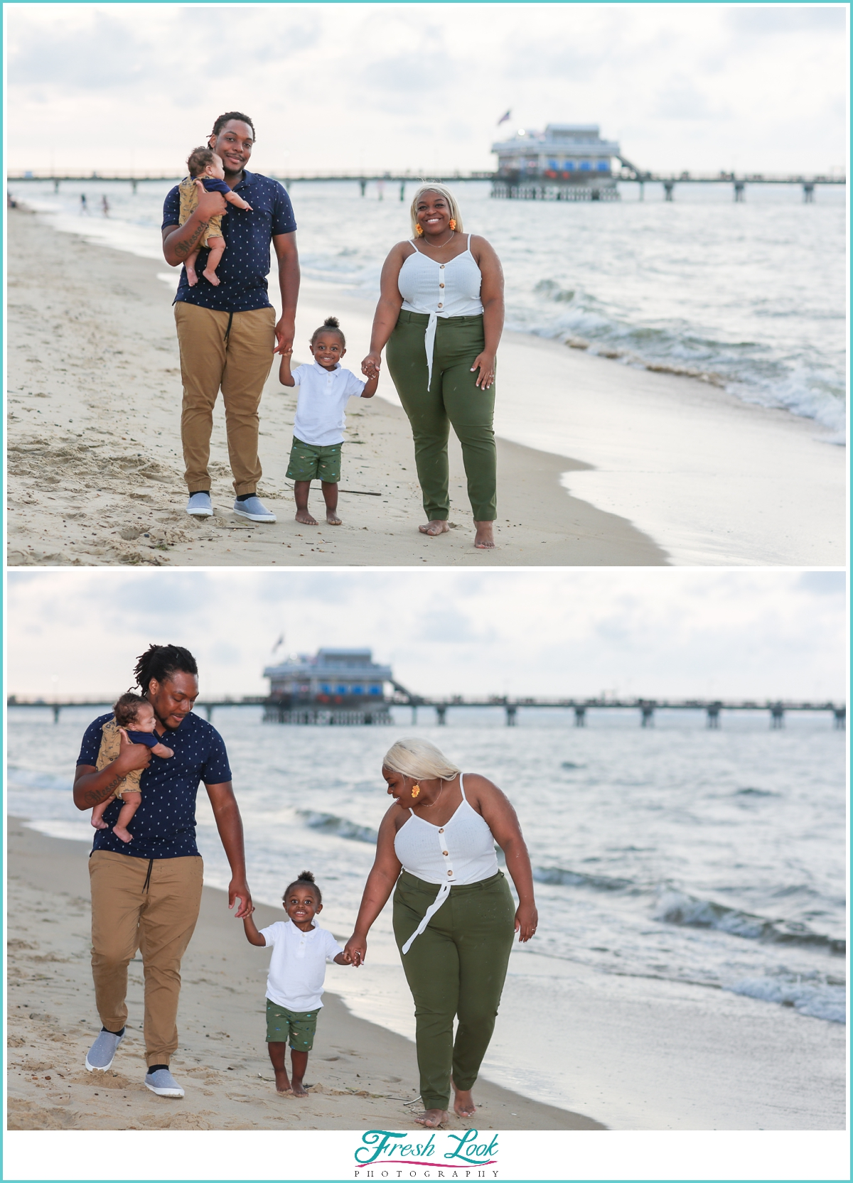 family photos in Ocean View beach