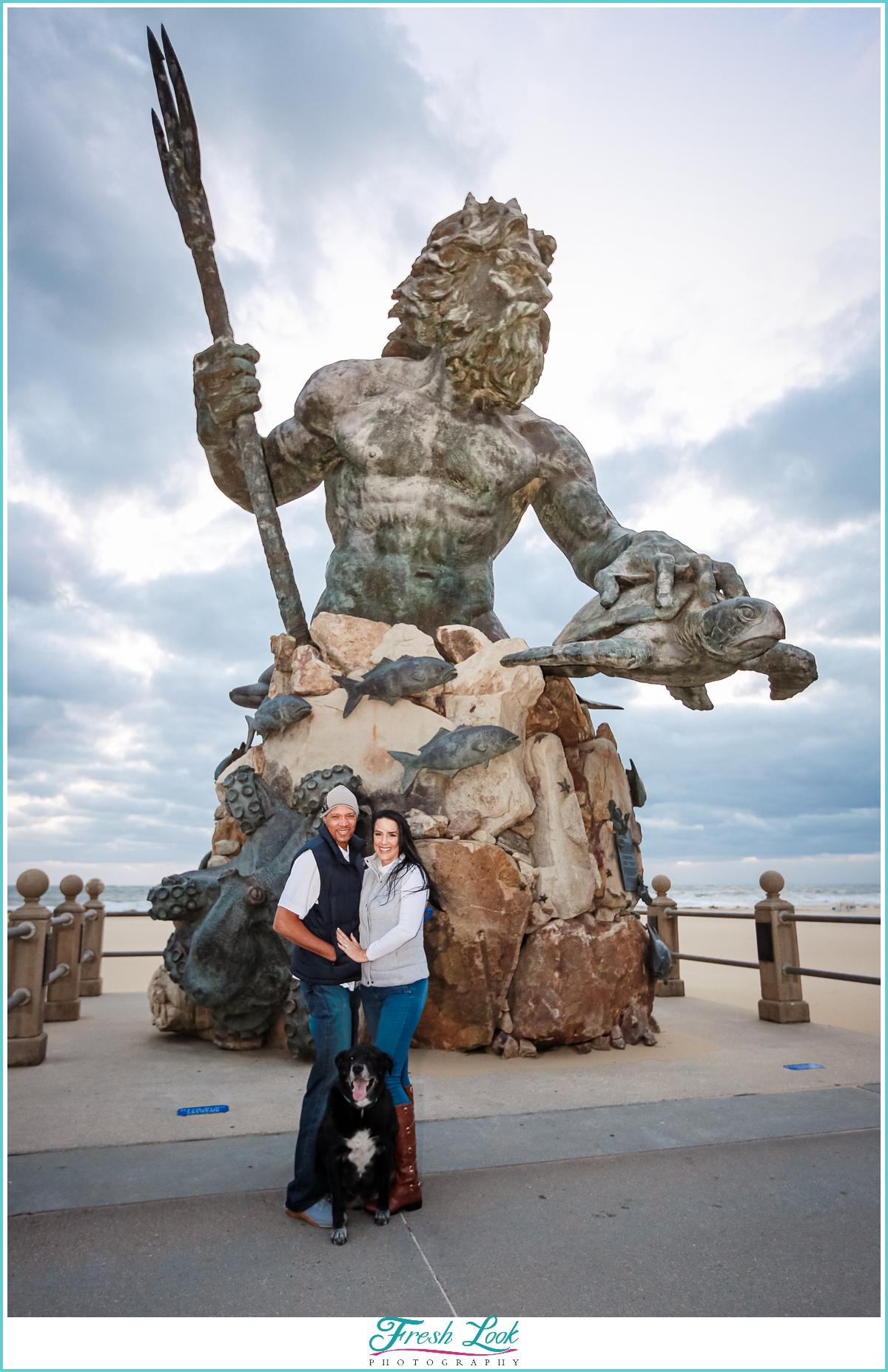 King Neptune Statue in Virginia Beach