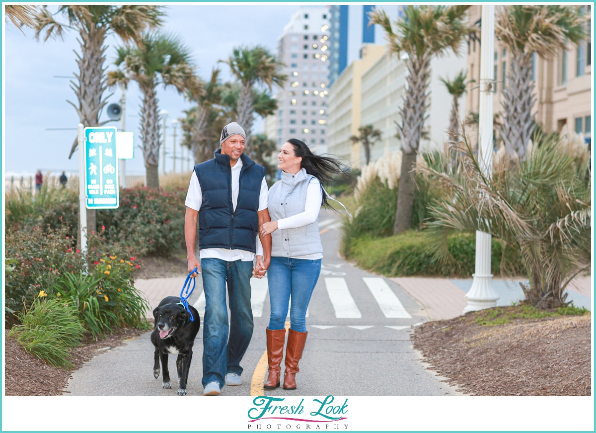 VIrginia Beach Boardwalk Engagement Session