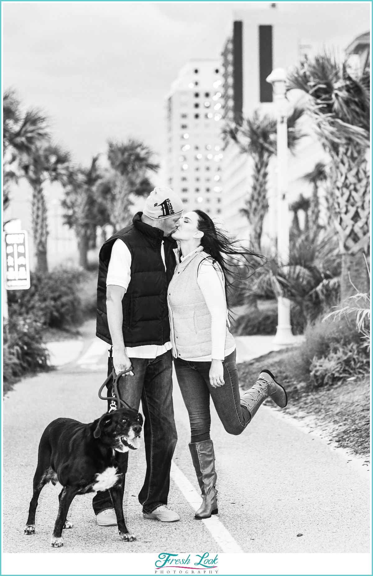 Romantic Engagement Session on the Boardwalk