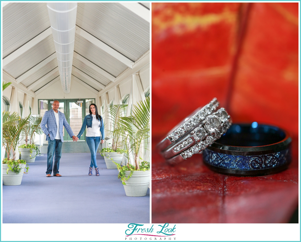 engagement photos and wedding rings