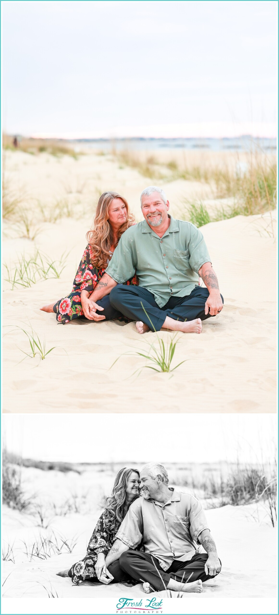couples beach photo session
