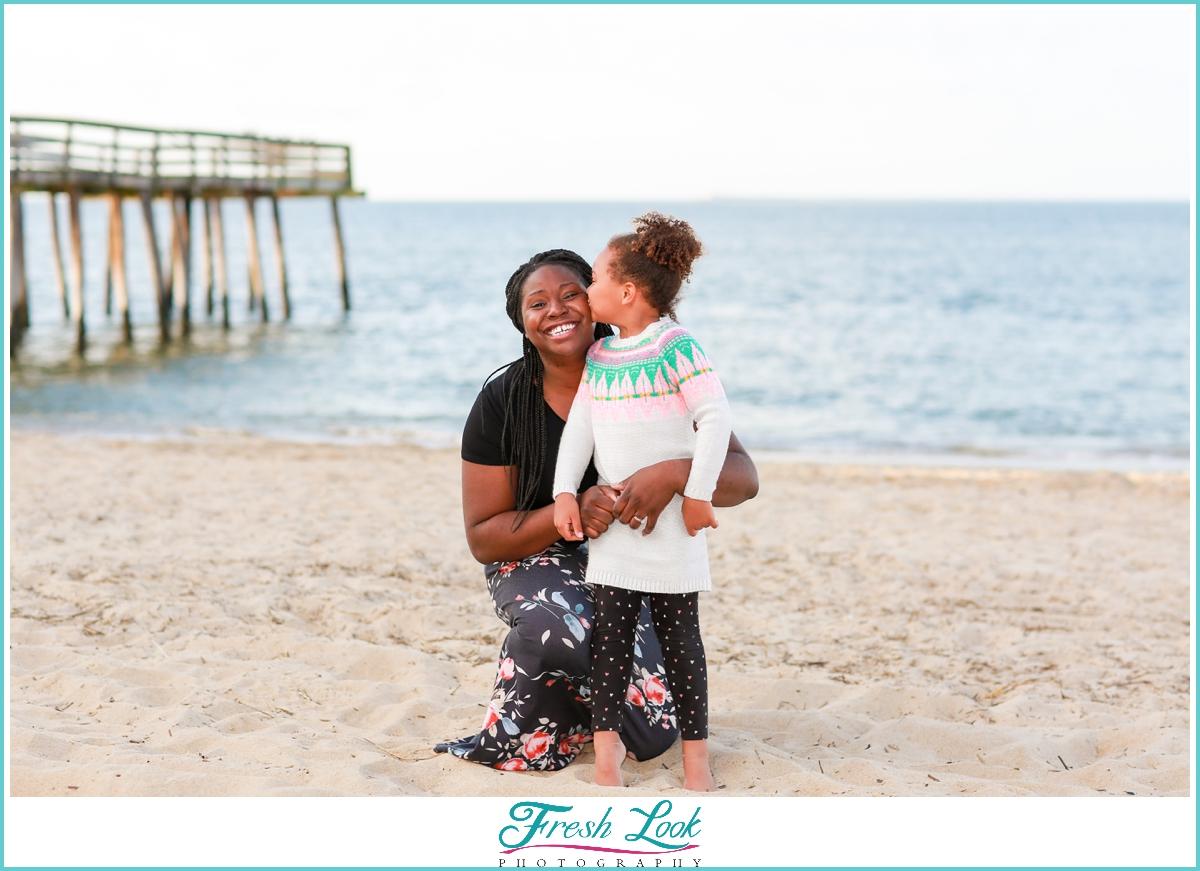 mommy and me beach photos