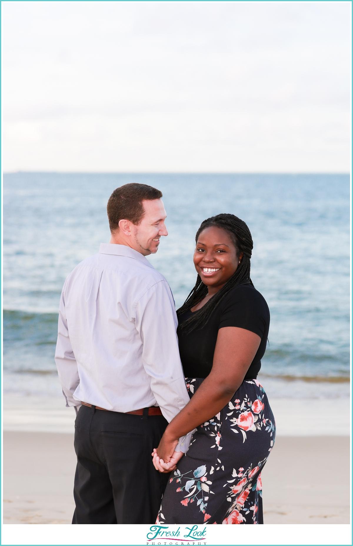 romantic beach couples photos