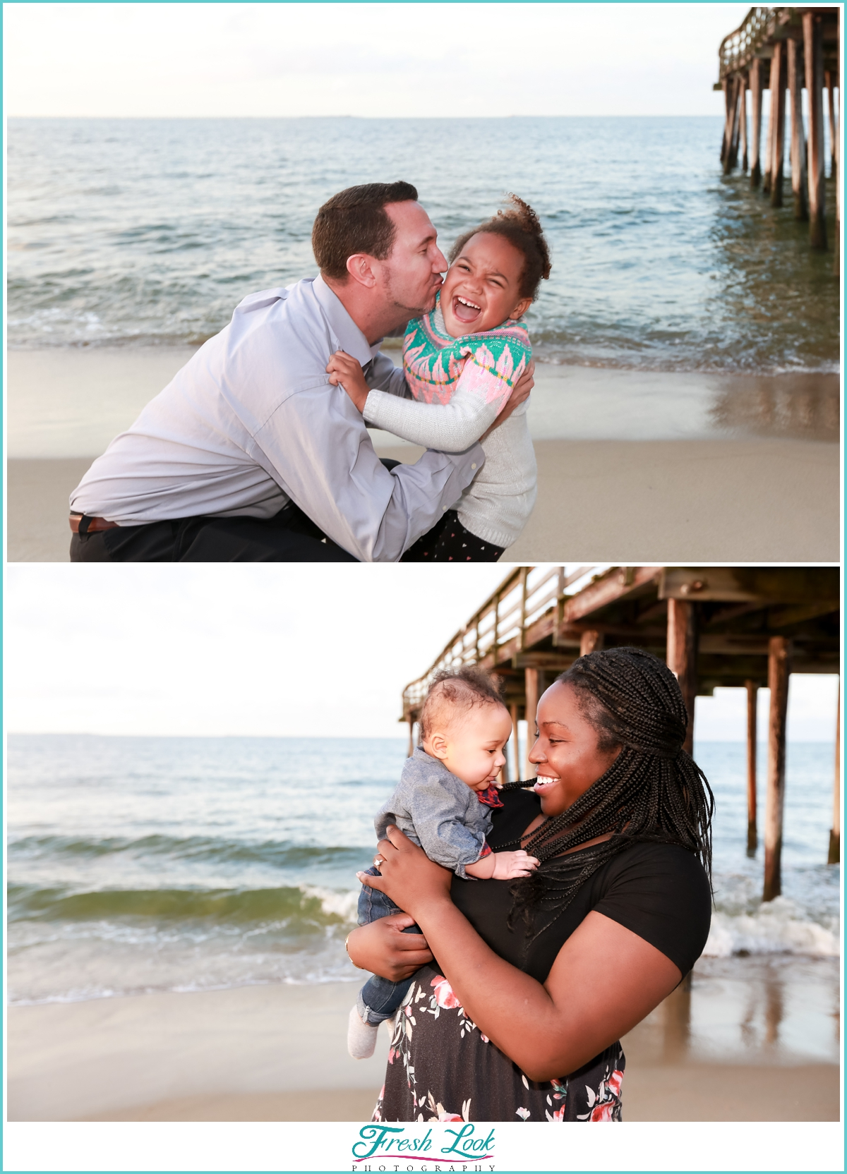 beach fun with mommy and daddy