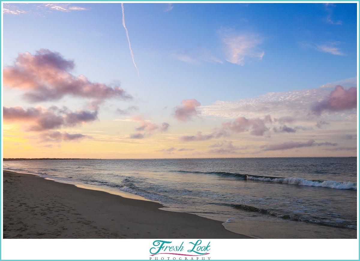 beach photos at sunset
