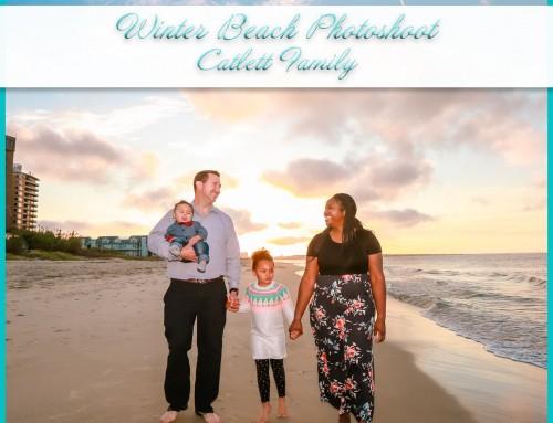 Winter Beach Photoshoot | Catlett Family