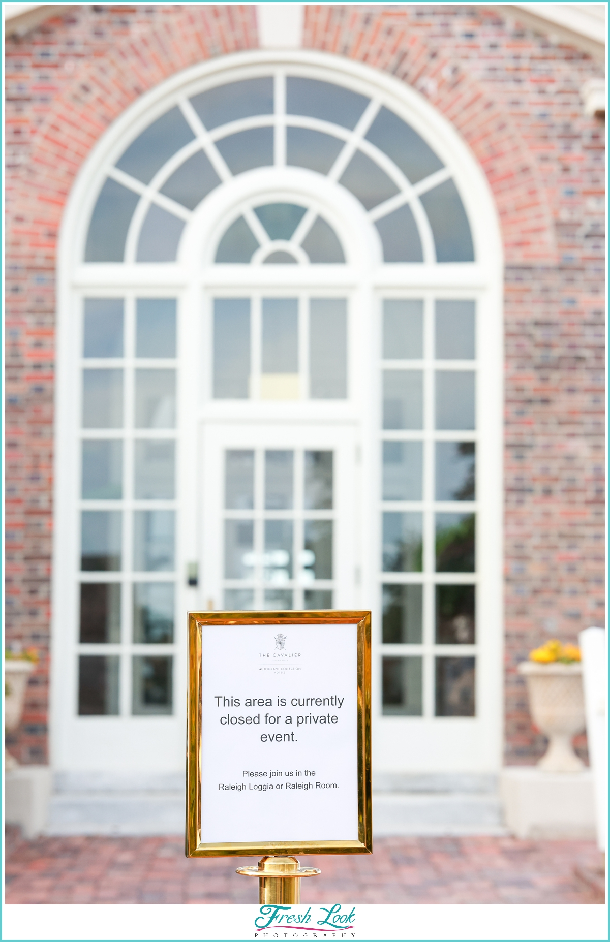 special event sign at Cavalier Hotel