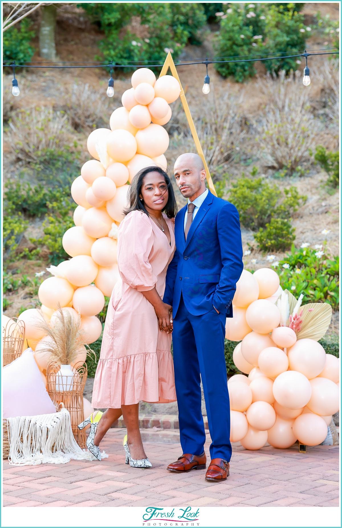 romantic couples portraits after engagement