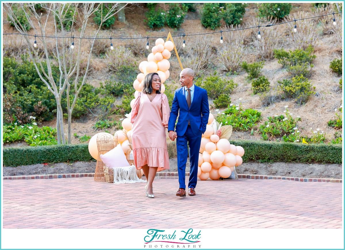 black couple engagement photoshoot