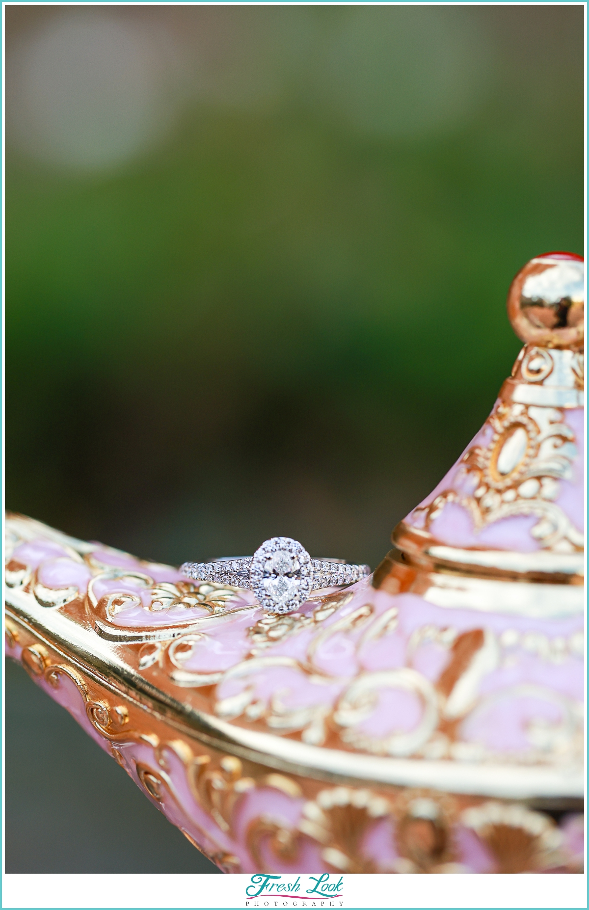 genie in the lamp Aladdin engagement ring