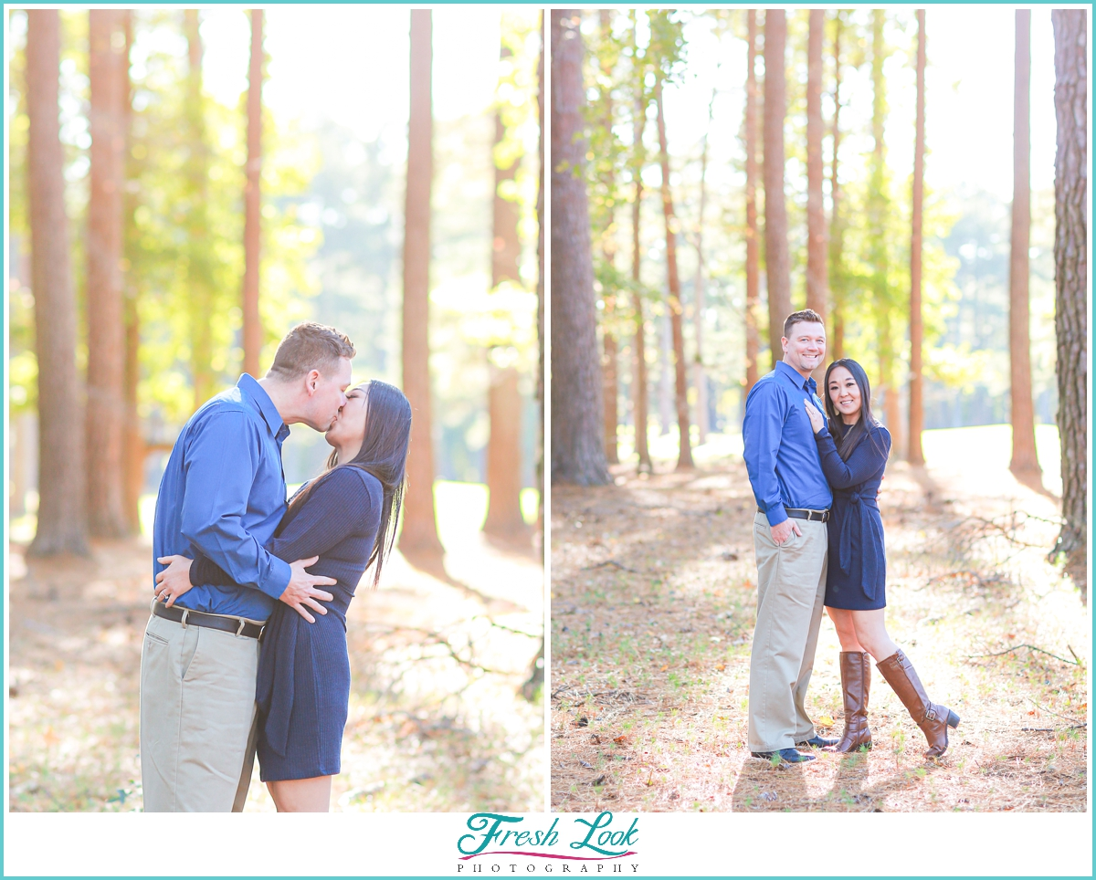 Couples portraits in the woods
