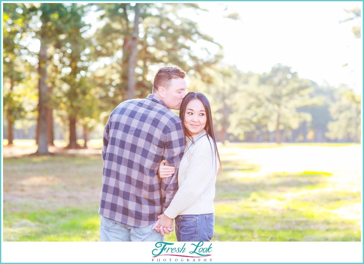 romantic engagement session photos