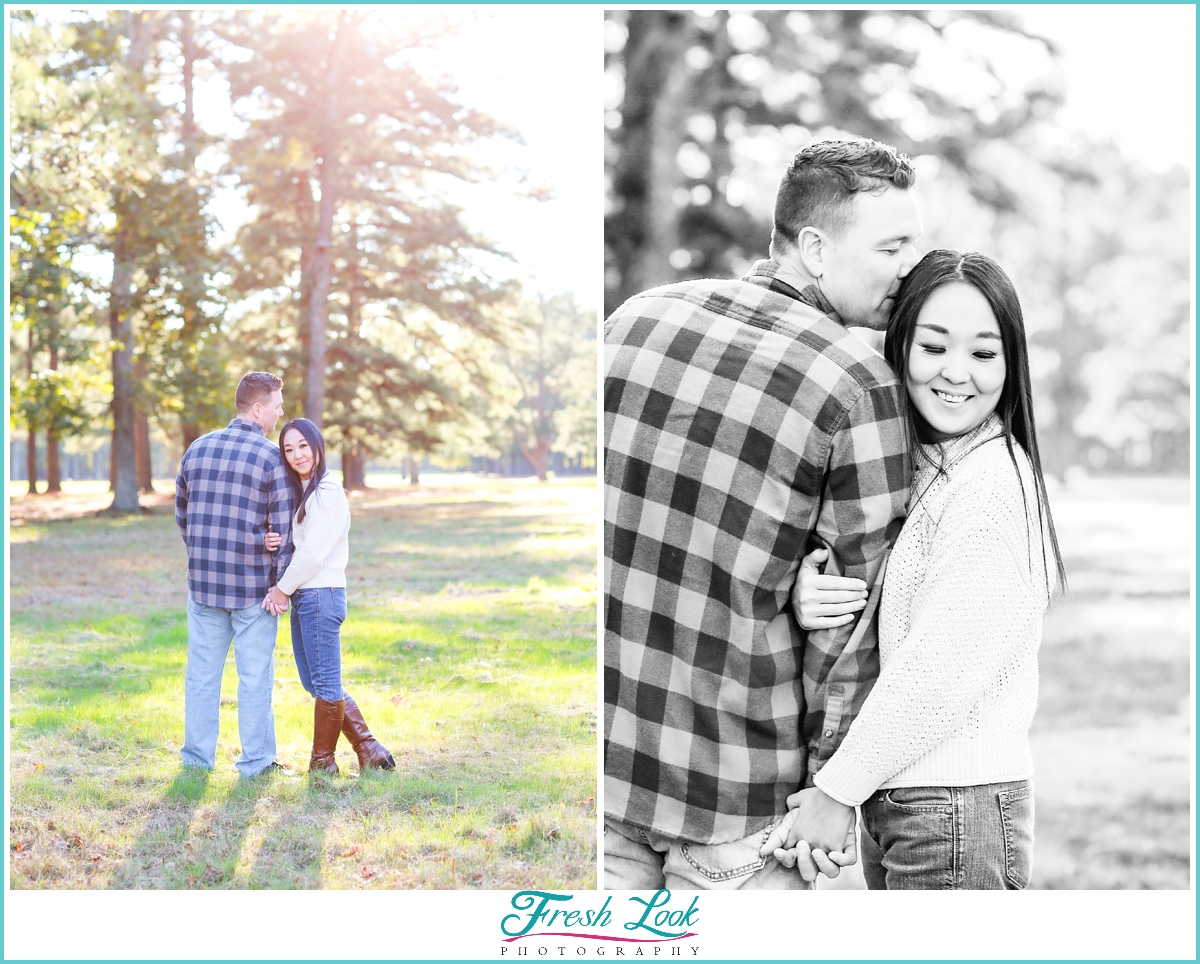 dreamy afternoon engagement photos