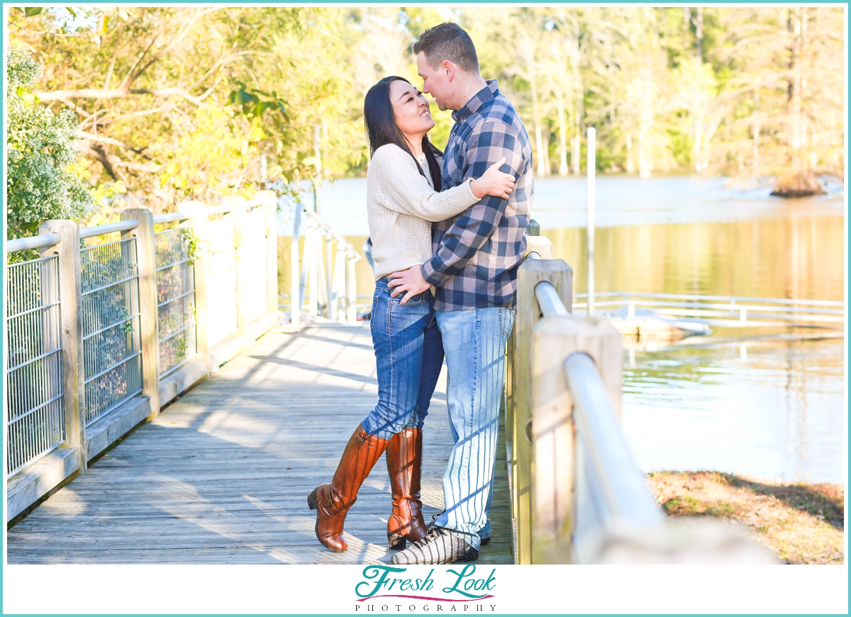 Engagement Portraits by the lake