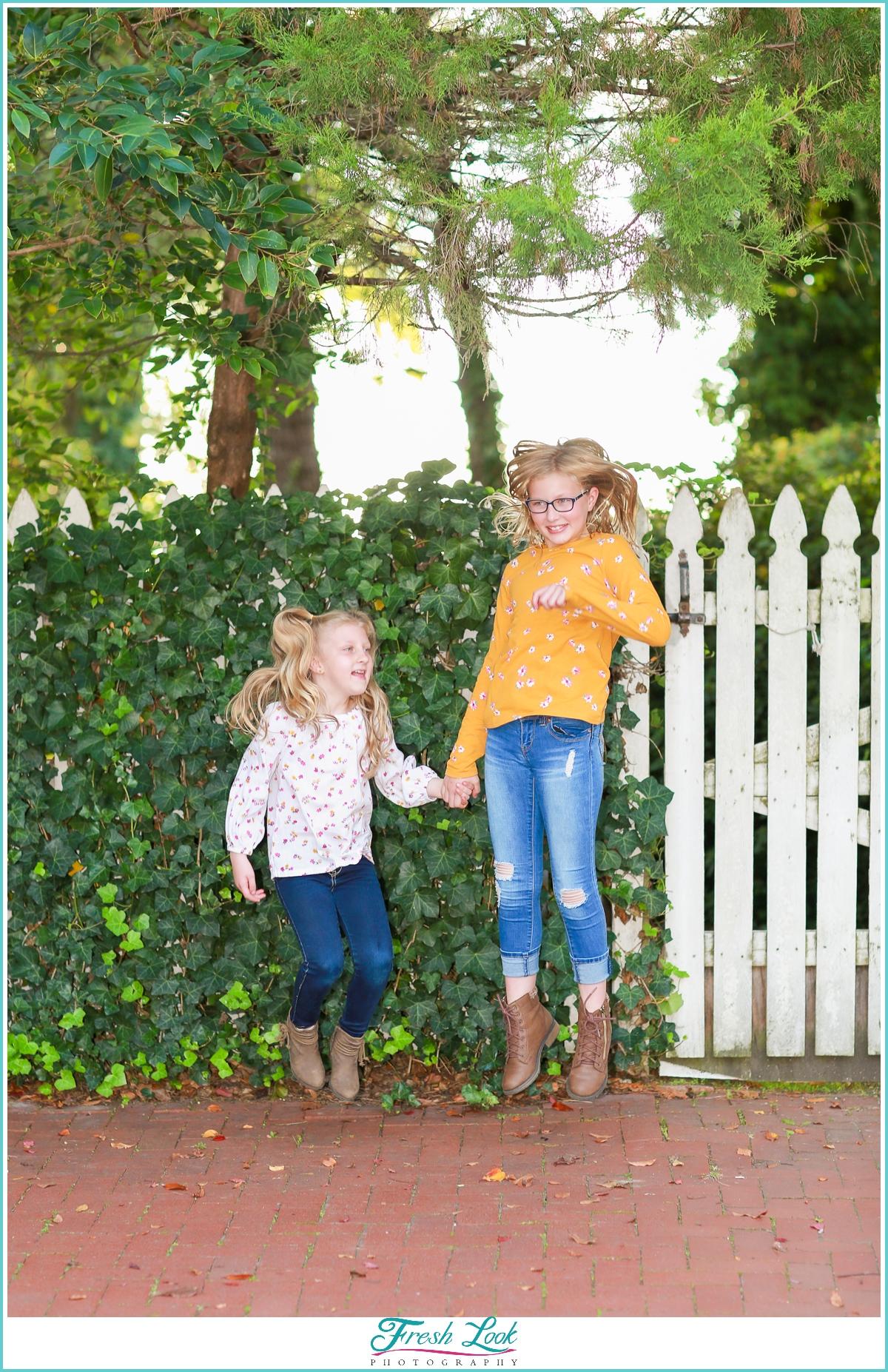 jump for joy at Norfolk Photoshoot