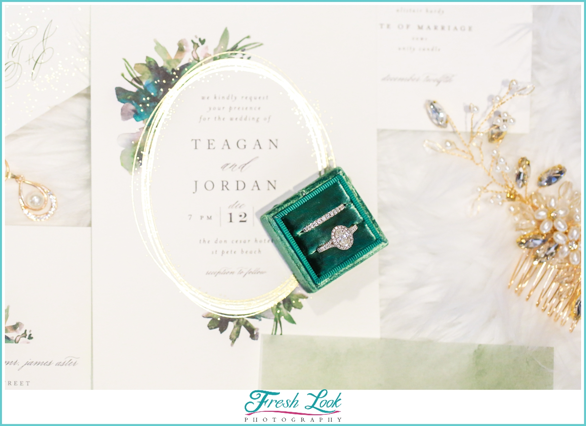 Verragio ring wedding flat lay