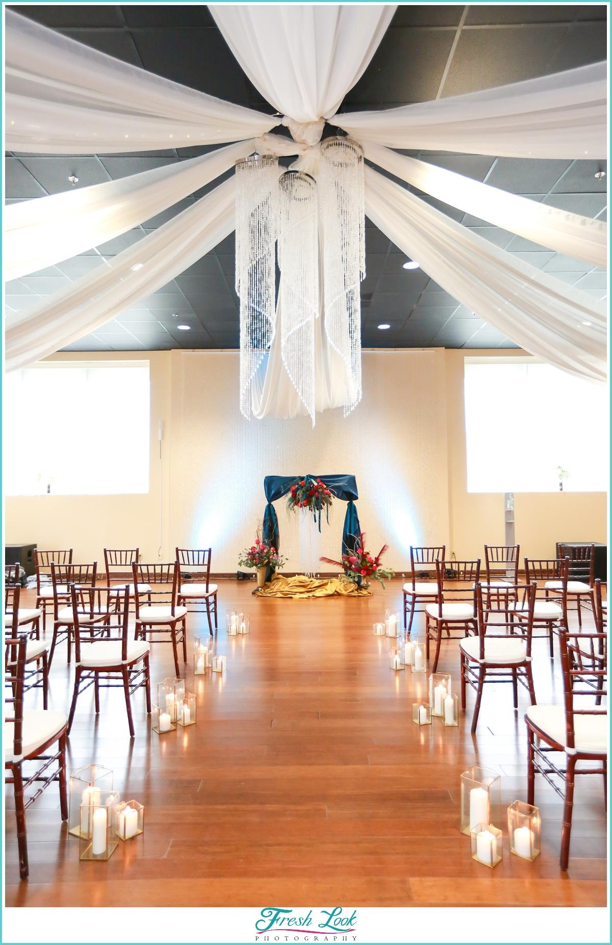 wedding ceremony setup at Mambo Room