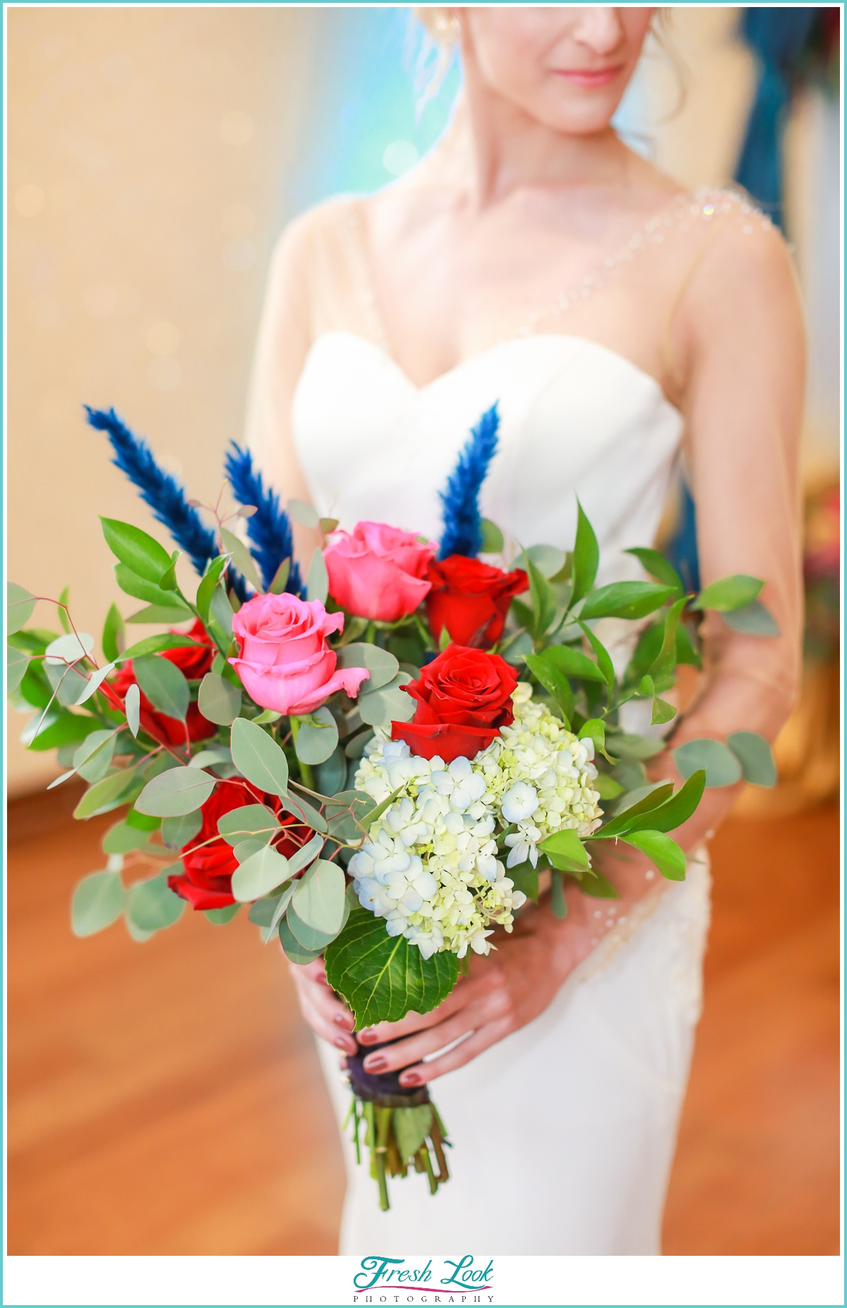 jewel toned bridal bouquet