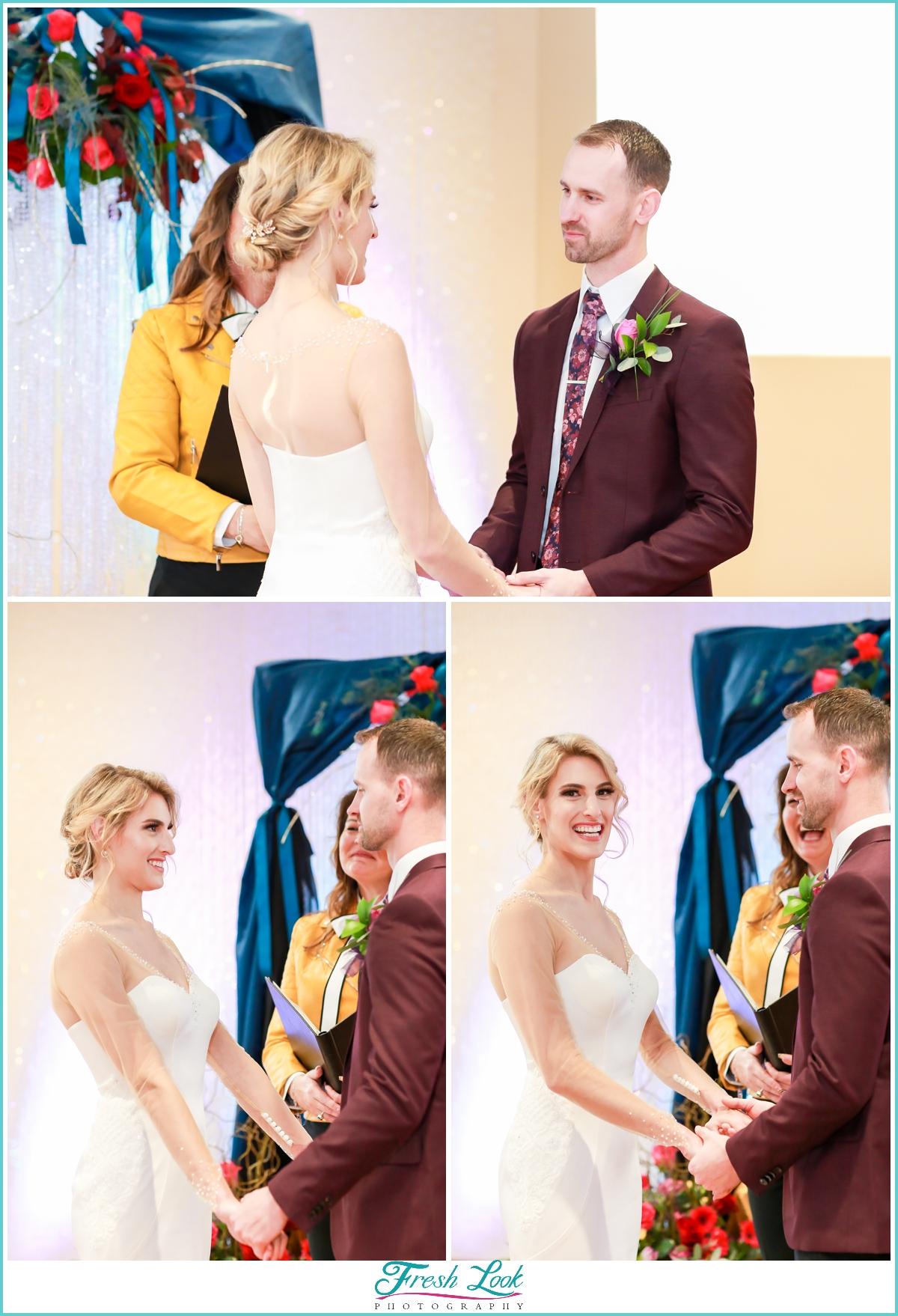 Indoor wedding ceremony at Mambo room