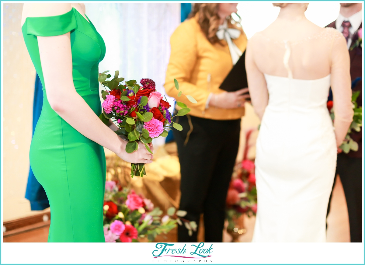 jewel toned bridesmaid bouquet inspiration
