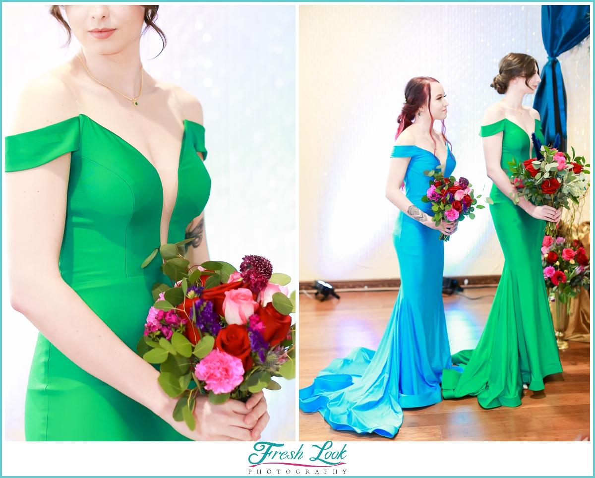 jewel toned bridesmaid dresses
