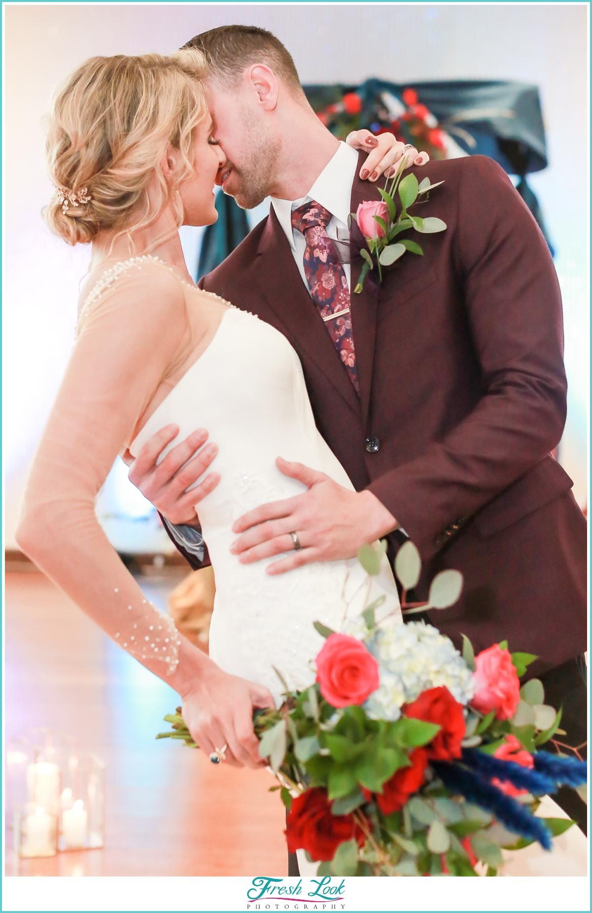bride and groom wedding poses
