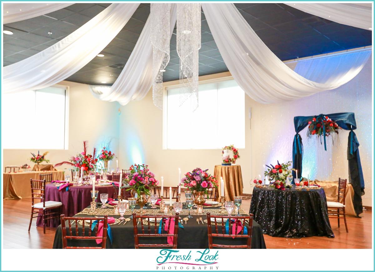 Wedding Reception decor at Mambo Room