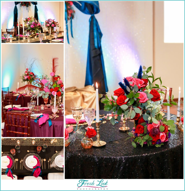 rich fall wedding reception decor ideas