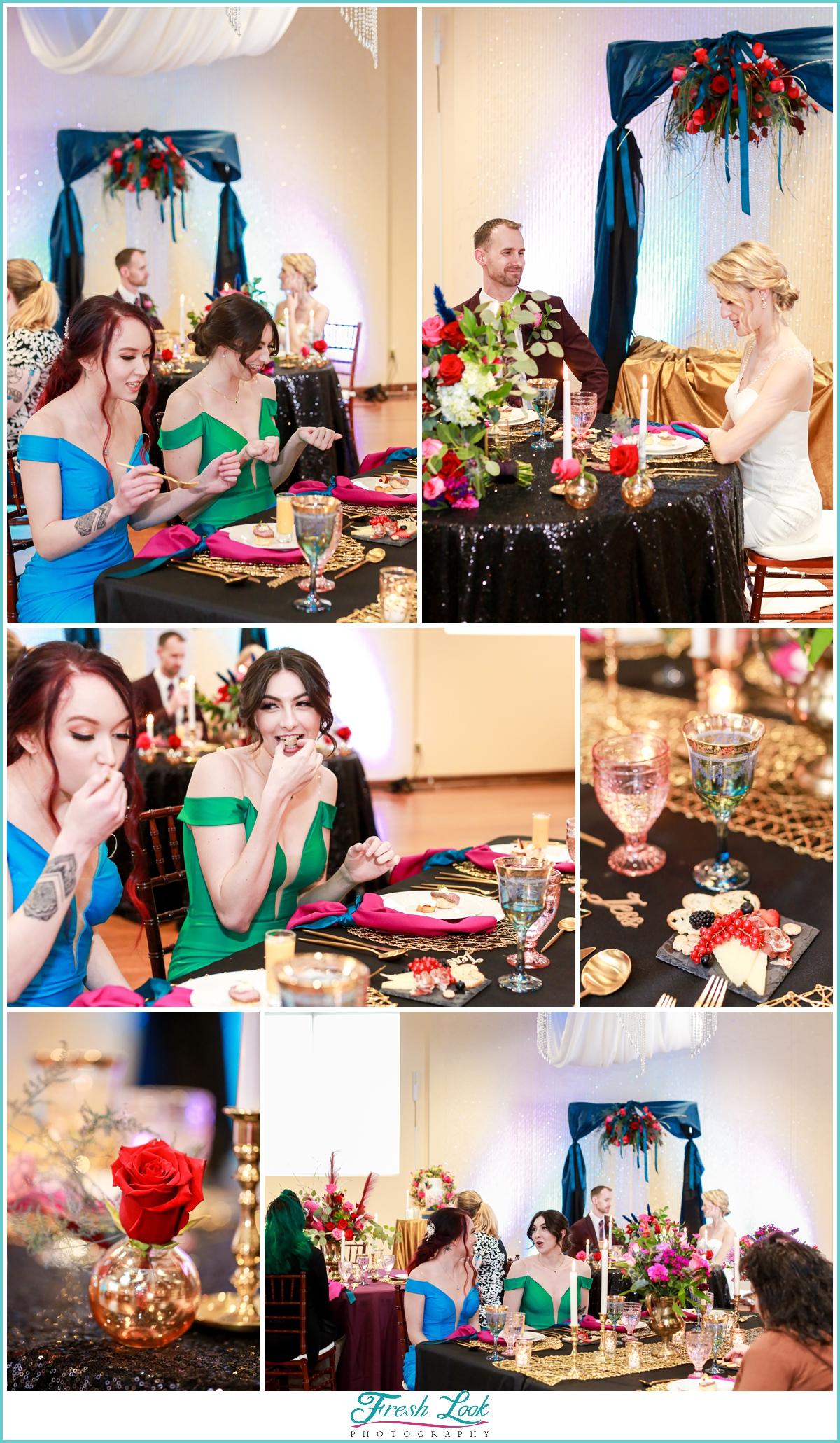 reception decor at Mambo Room wedding
