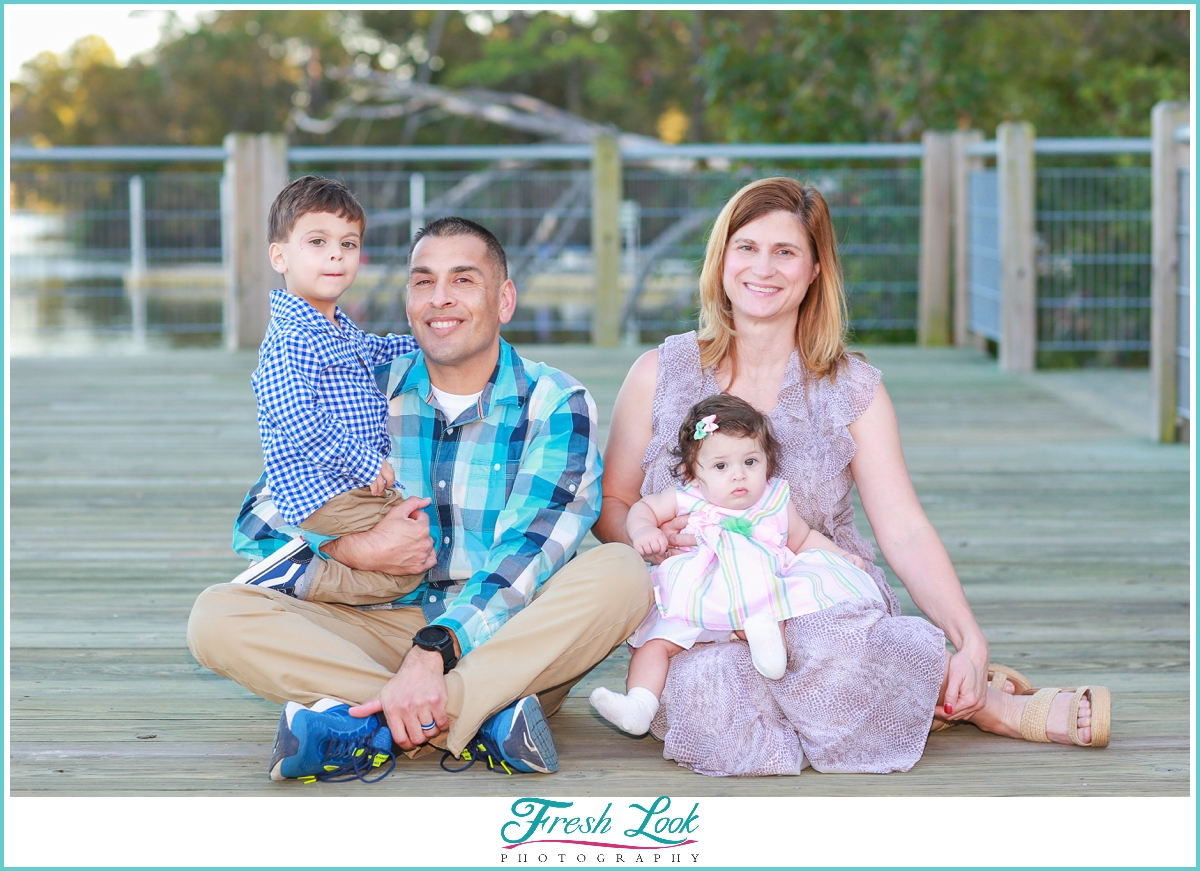 Virginia Family session on the water