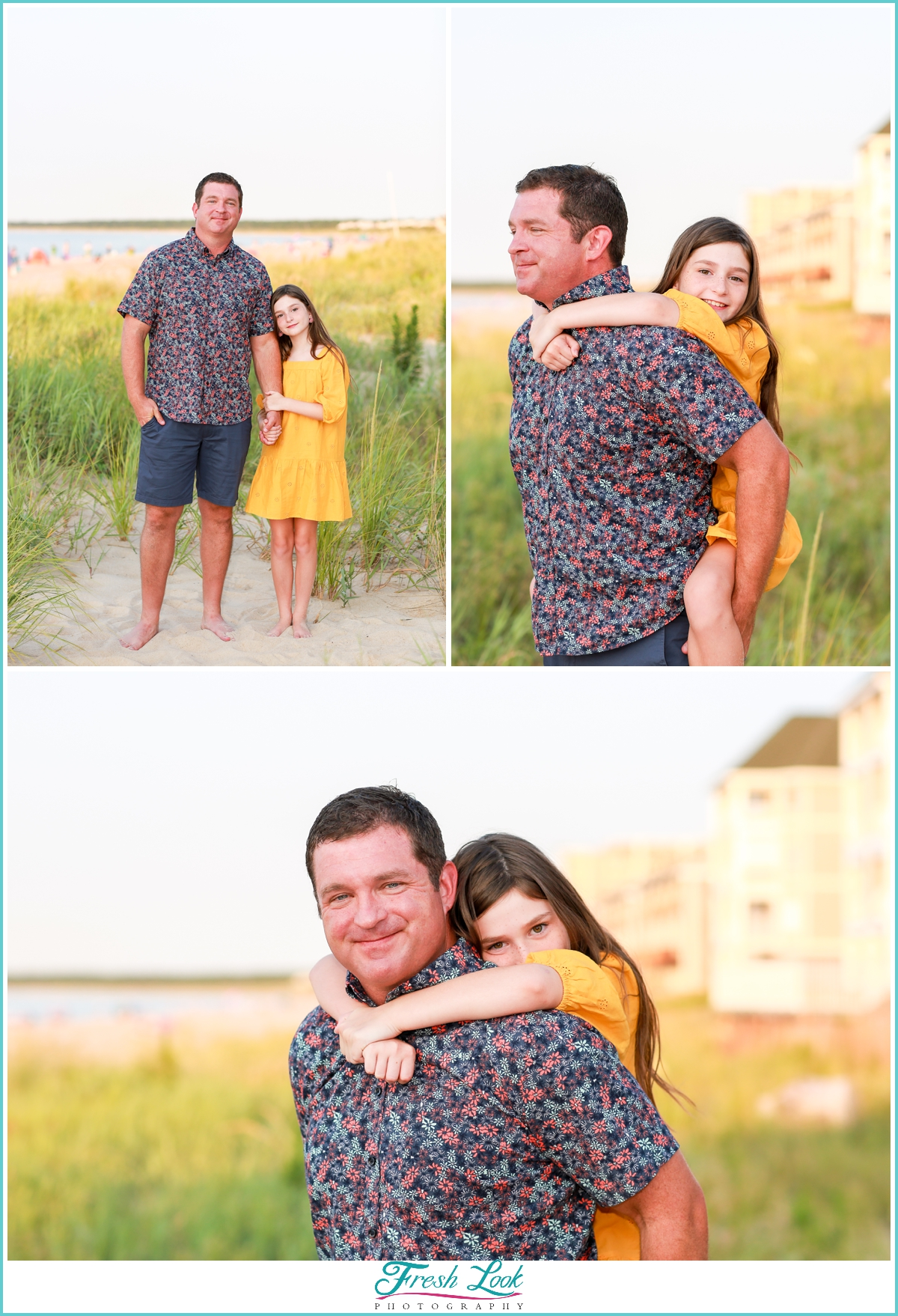 beach photoshoot with dad
