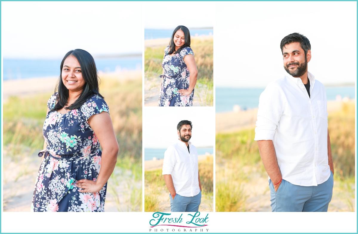 oceanfront engagement photoshoot