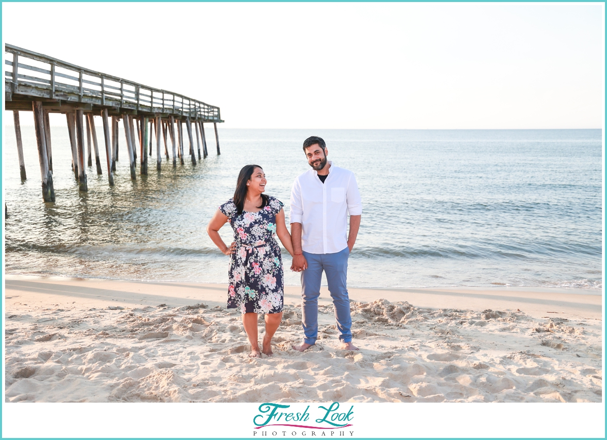 fun couples beach photos