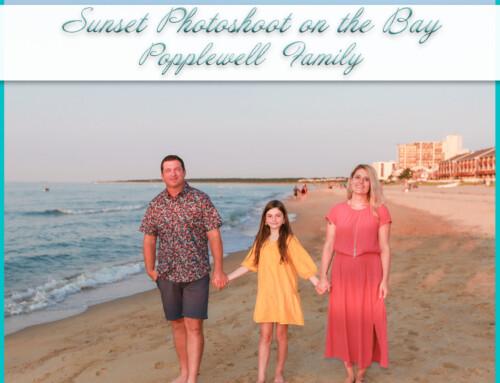 Sunset Photoshoot on the Bay | Popplewell Family