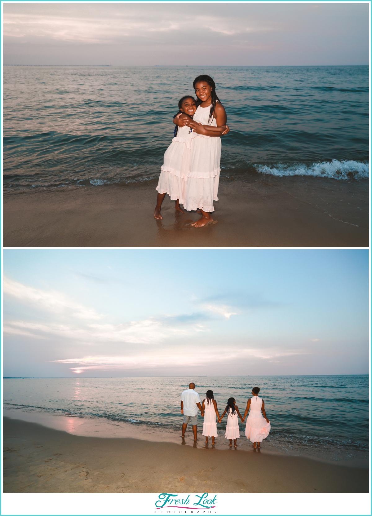 sunset on the beach photoshoot