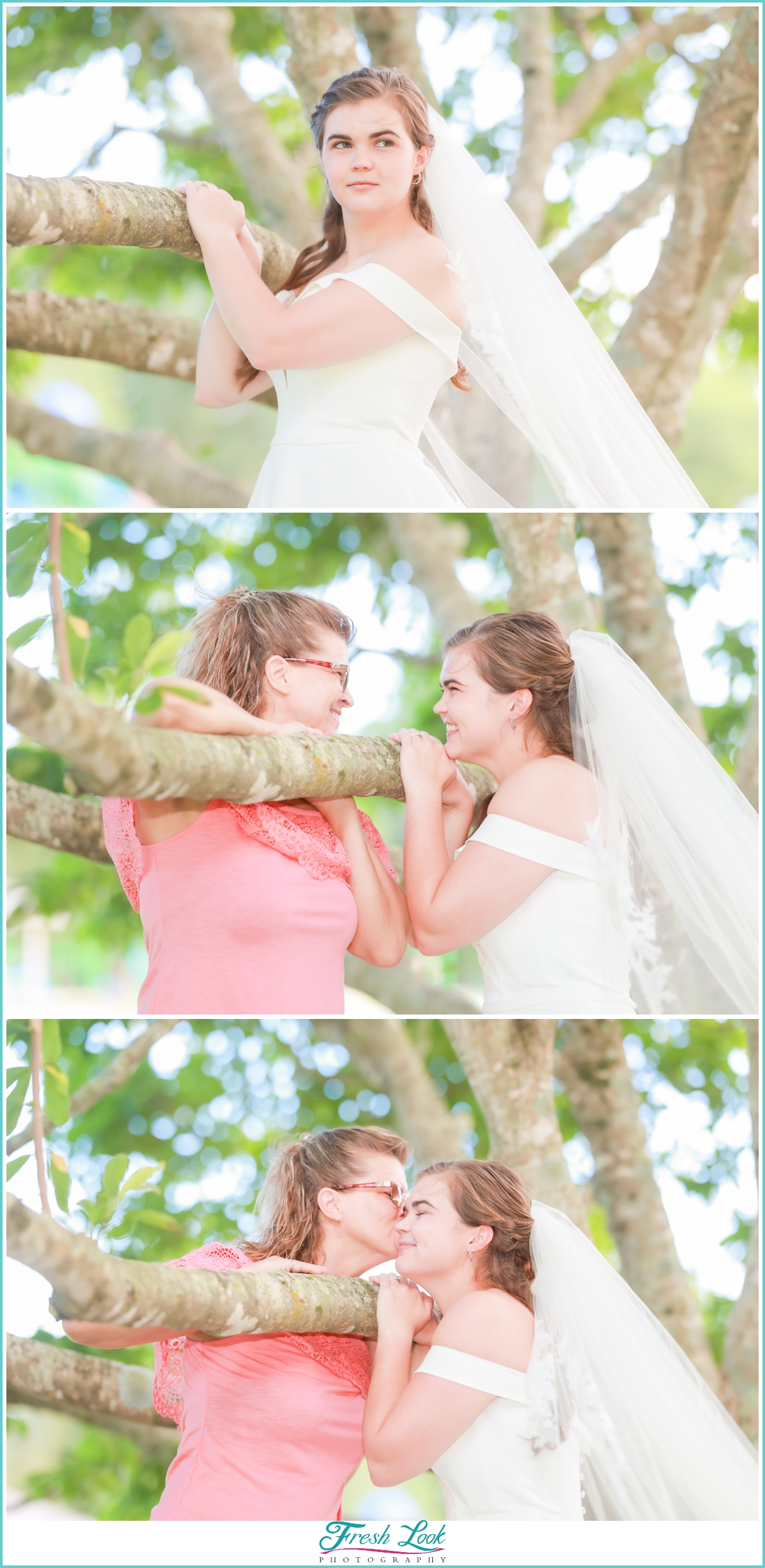 bride and her mom special moment