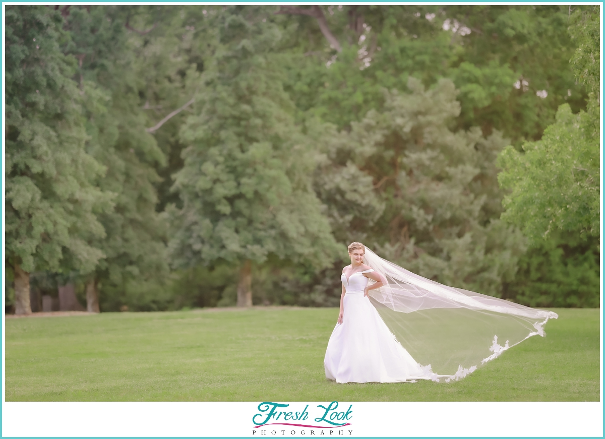 bridal portraits in the park