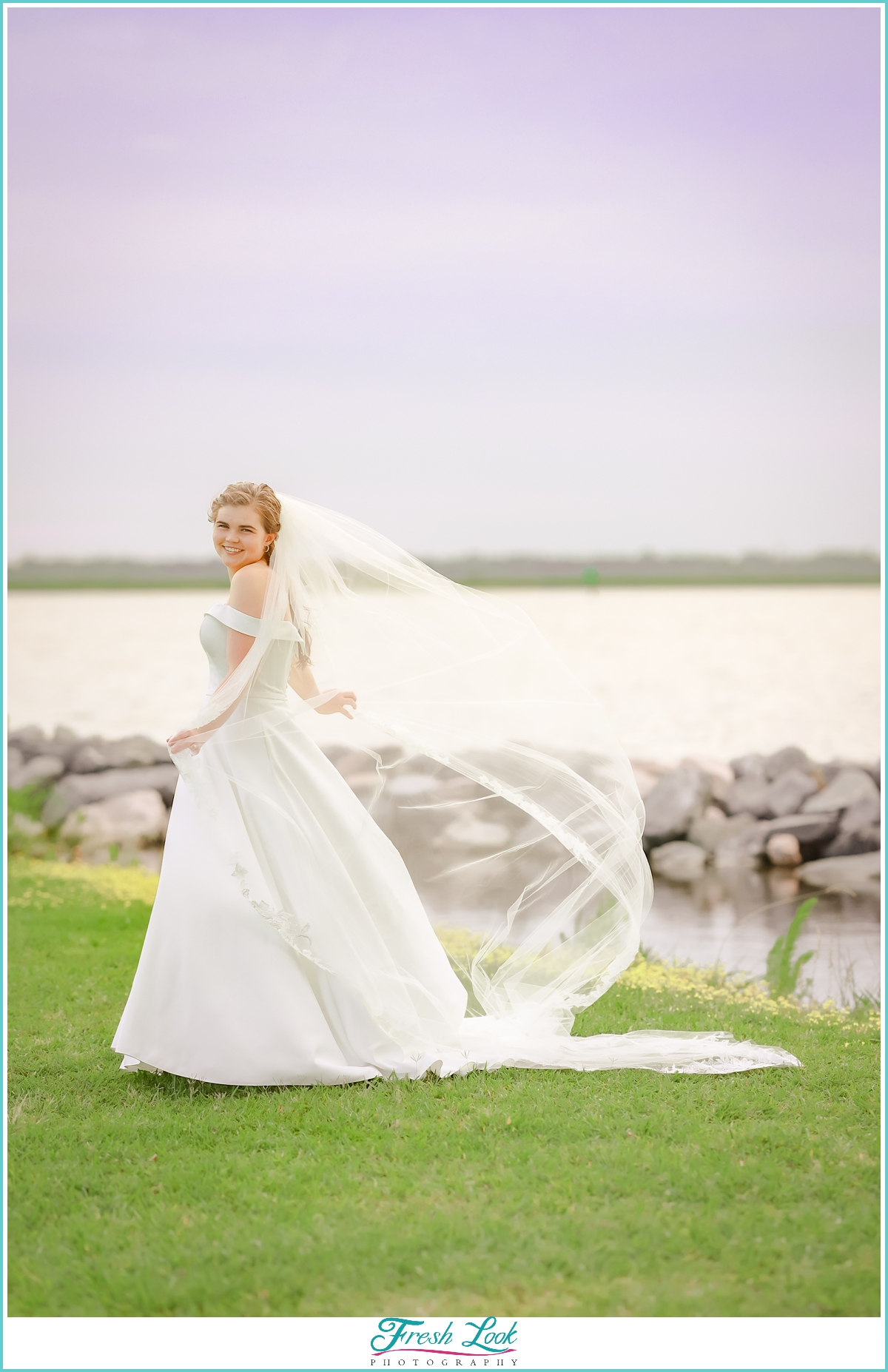 Bridal portraits by the water