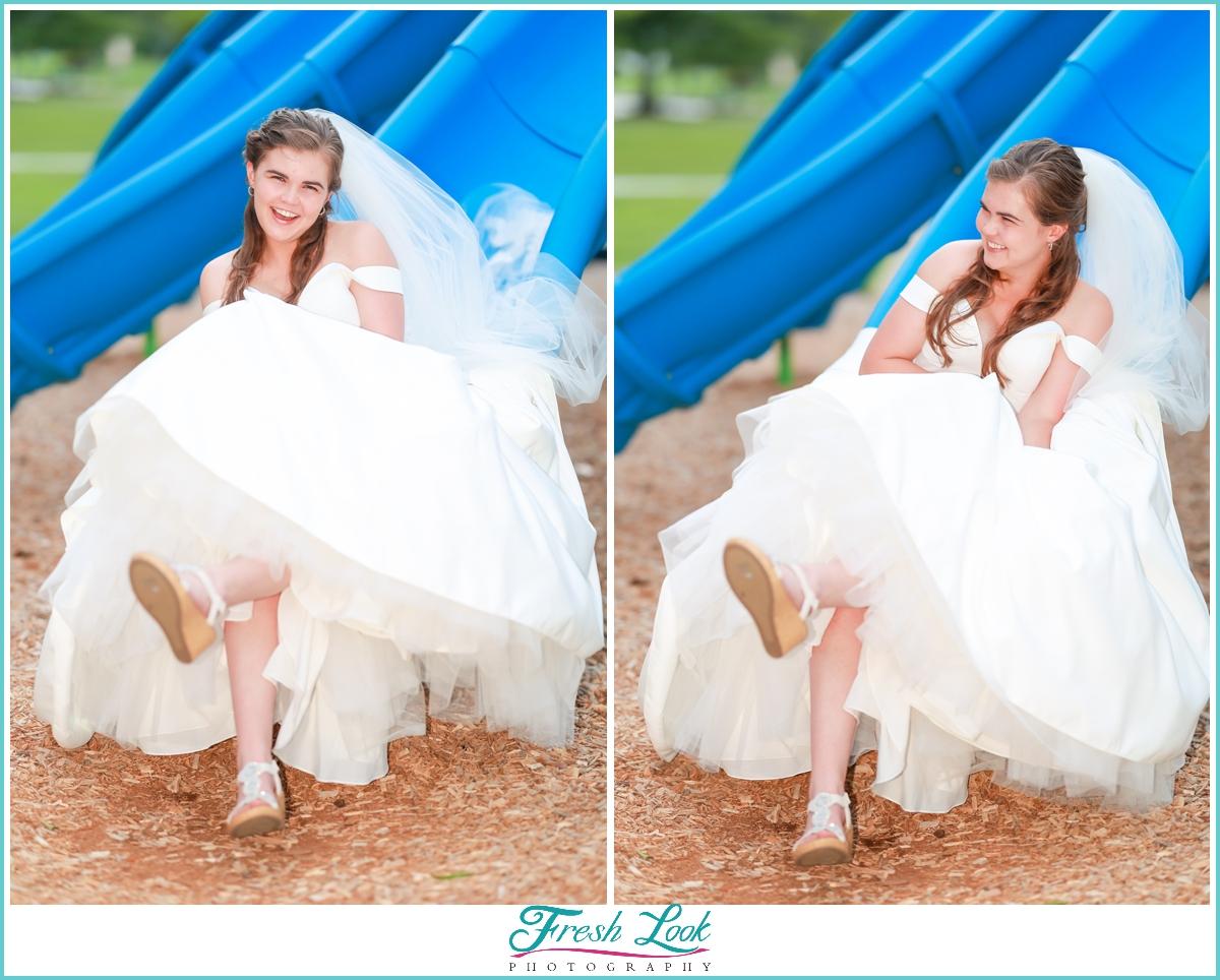 fun bridal photoshoot