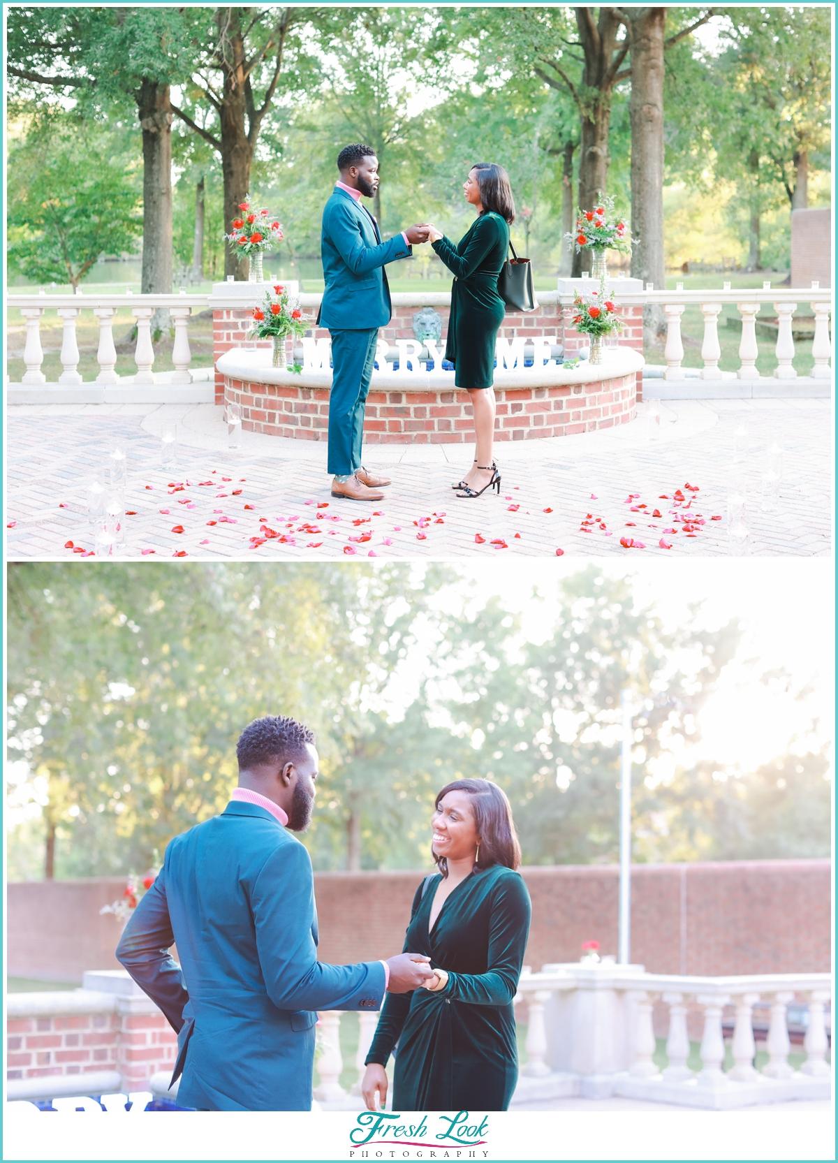 emotional surprise proposal