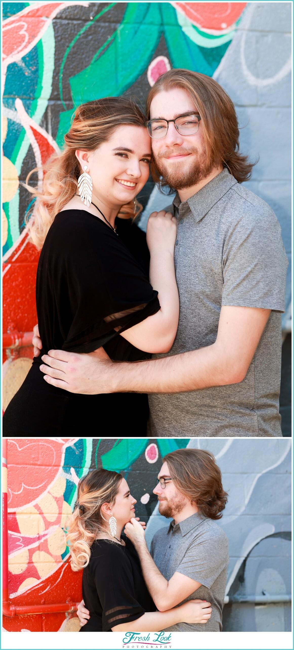 Engagement photos in Neon Norfolk